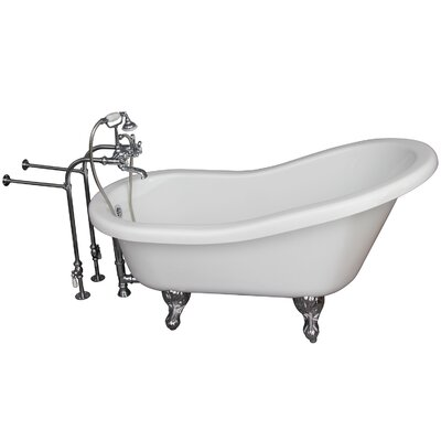 67 x 29.5 Soaking Bathtub Kit Finish: Chrome
