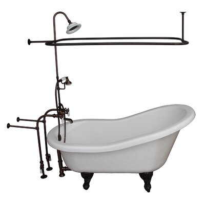 60 x 29.5 Soaking Bathtub Kit Finish: Oil Rubbed Bronze
