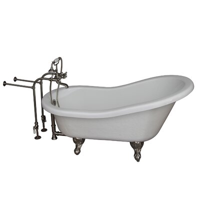 Tub Kit 24.5 x 60 Bathtub Finish: Brushed Nickel