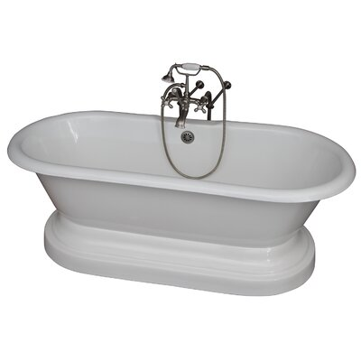 67.75 x 31 Soaking Bathtub Kit Finish: Brushed Nickel