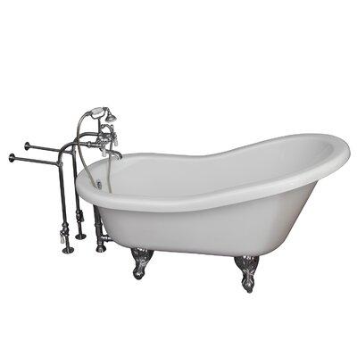 60 x 29.25 Soaking Bathtub Kit Finish: Chrome