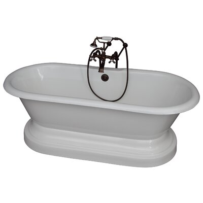 67.75 x 31 Soaking Bathtub Kit Finish: Oil Rubbed Bronze