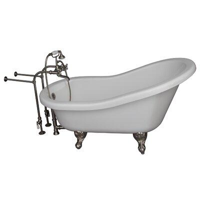 60 x 29.5 Soaking Bathtub Kit Finish: Brushed Nickel