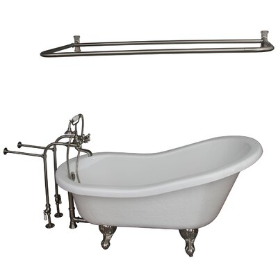 60 x 29.5 Soaking Bathtub Kit Finish: Brushed Nickel