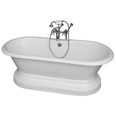 67.75 x 31 Soaking Bathtub Kit Finish: Chrome