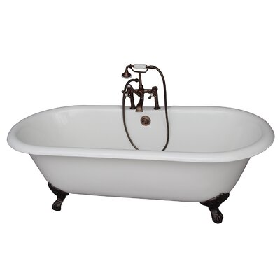 60.75 x 31 Soaking Bathtub Kit Finish: Oil Rubbed Bronze