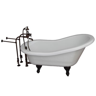 60 x 24.5 Soaking Bathtub Kit Finish: Oil Rubbed Bronze