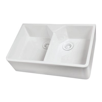 Jolie 31 x 20 Double Bowl Farmer Kitchen Sink