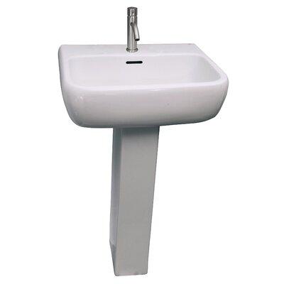 Metropolitan 600 24 Pedestal Bathroom Sink with Overflow