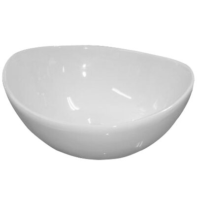 Vitreous China Circular Vessel Bathroom Sink with Overflow