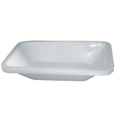 Vitreous China Rectangular Vessel Bathroom Sink
