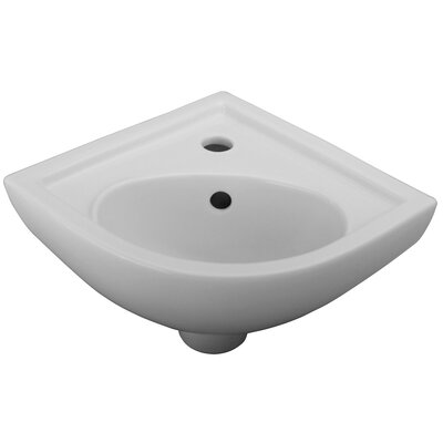 17 Wall Mounted Bathroom Sink with Overflow