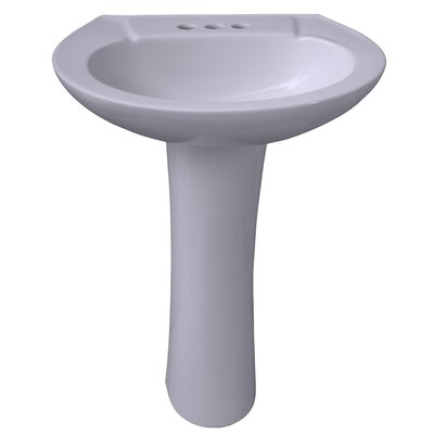 Hampshire 575 23 Pedestal Bathroom Sink Sink Finish: Bisque