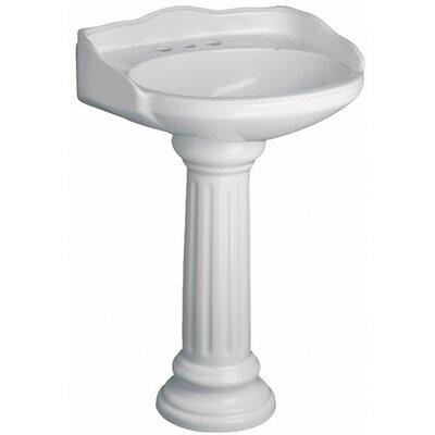 Victoria 26 Pedestal Bathroom Sink Sink Finish: White