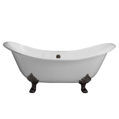 Marshall 71 x 30 Soaking Bathtub Finish: Black