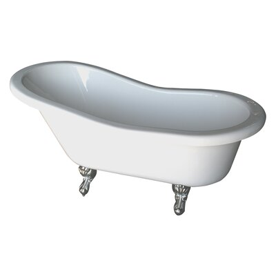 Isadora 67 x 30 Bathtub Finish: Polished Brass