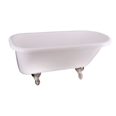 Asia 67 x 29.5 Soaking Bathtub Finish: Brushed Nickel