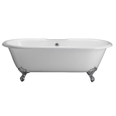 Duet 67 x 31 Soaking Bathtub Kit Finish: Polished Chrome