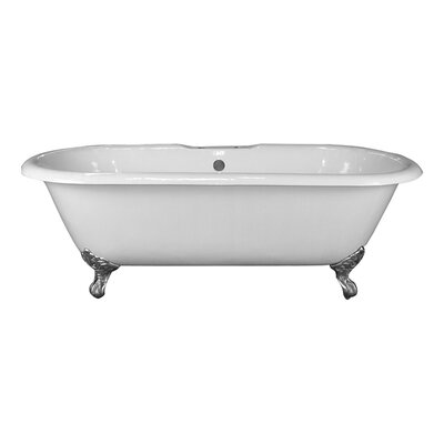 Duet 60.75 x 31 Soaking Bathtub Finish: Polished Chrome