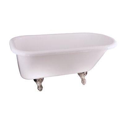 Anthea 60 x 30 Soaking Bathtub Finish: Brushed Nickel
