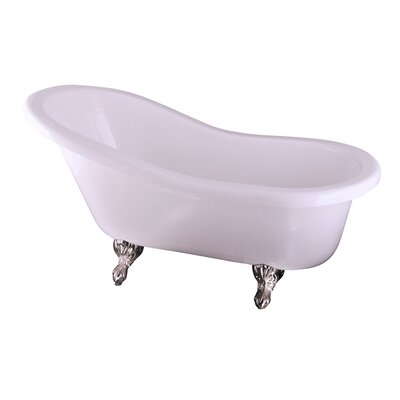 Isadora 67 x 30 Bathtub Finish: Brushed Nickel