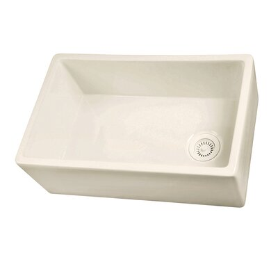 29.75 x 17.88 Single Bowl Fire Clay Farmhouse Kitchen Sink Finish: Bisque