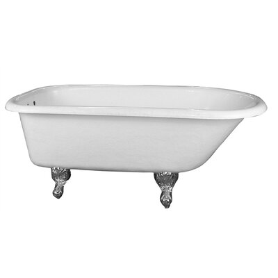 Asia 67 x 29.5 Soaking Bathtub Finish: Polished Chrome