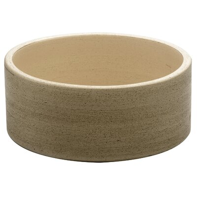 Fango Circular Vessel Bathroom Sink Sink Finish: Beige