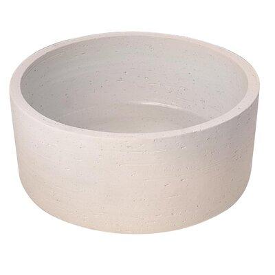 Fango Circular Vessel Bathroom Sink Sink Finish: Ivory