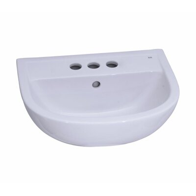 Vitreous China Circular Pedestal Bathroom Sink with Overflow