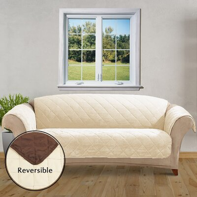Reversible Box Cushion Sofa Slipcover