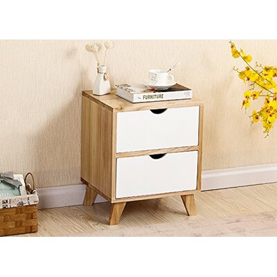 Kaplan 2 Drawer Nightstand