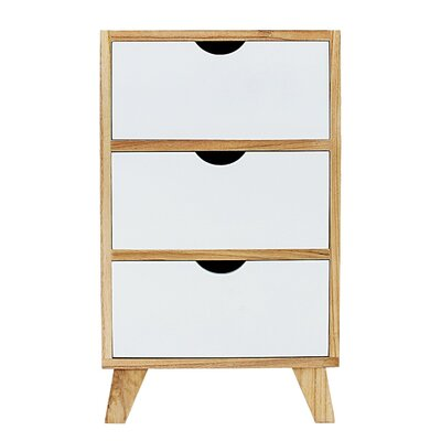 Kaplan 3 Drawer Nightstand