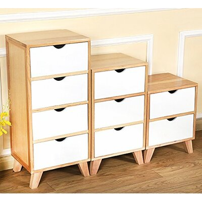 Kaplan 4 Drawer Nightstand