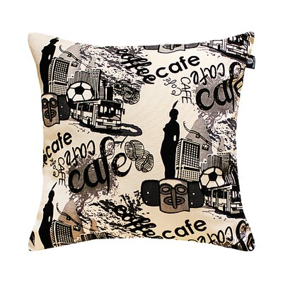 Brouillette Romantic City Cafe Pillow Cover