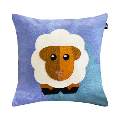 Basit Animal Embroidery Pillow Cover