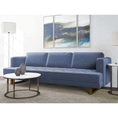 Waldrep Sofa Upholstery: Pacific Blue