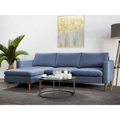 Berndt Reversible Sectional Upholstery: Pacific Blue