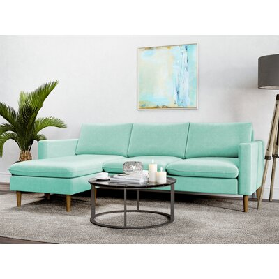 Berndt Reversible Sectional Upholstery: Duck Egg