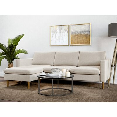 Berndt Reversible Sectional Upholstery: Oatmeal
