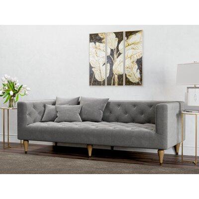 Plourde Sofa Upholstery: Charcoal Gray