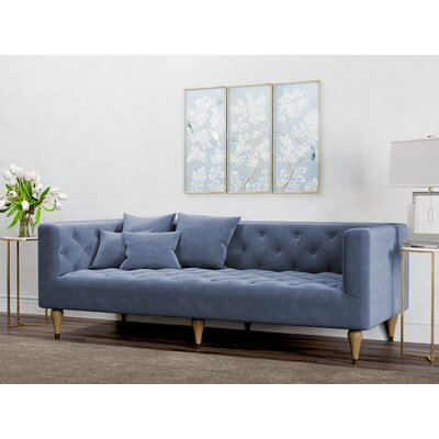 Dunkle Sofa Upholstery: Pacific Blue