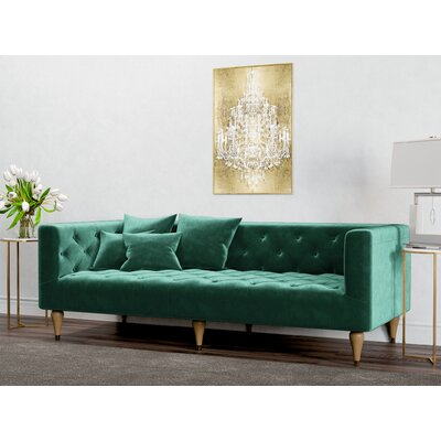 Welch Sofa Upholstery: Emerald Green