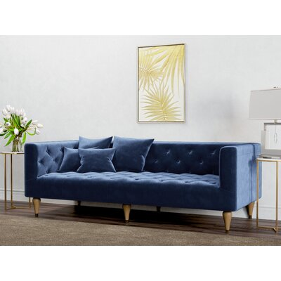 Welch Sofa Upholstery: Royal Blue
