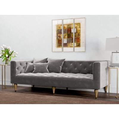 Welch Sofa Upholstery: Platinum