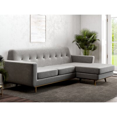 Giavanna Reversible Sectional Upholstery: Charcoal, Orientation: Reversible