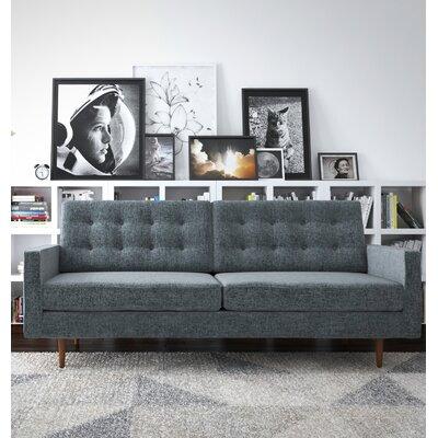 Plemons Sofa Upholstery: Charcoal Gray