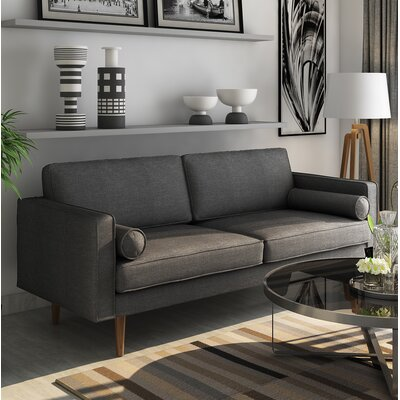 Berns Sofa Upholstery: Charcoal Gray