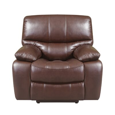 Ledoux Leather Power No Motion Recliner