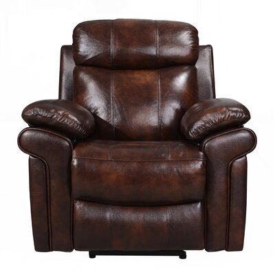 Asbury Leather Power No Motion Recliner